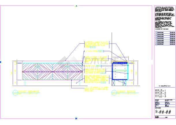 某地美容美发厅装修CAD设计涵洞(英文)图纸图纸八字墙符号图片