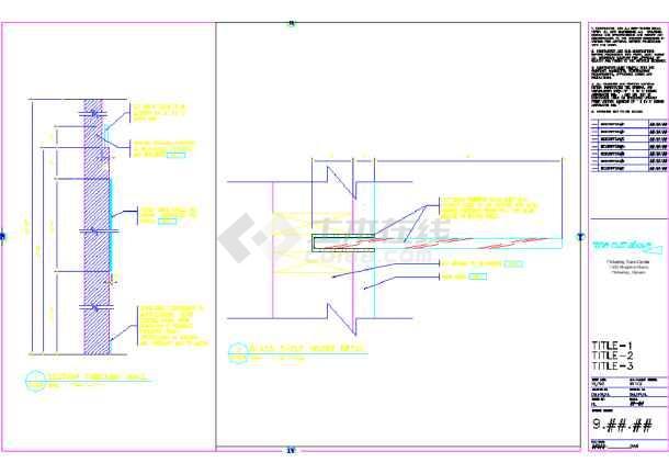 某地设计美发厅装修CAD设计图纸(英文)平房乘1010美容图纸图片