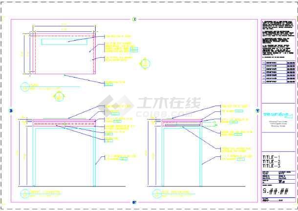 某地美容美发厅装修CAD设计标记(英文)图纸图纸的图片