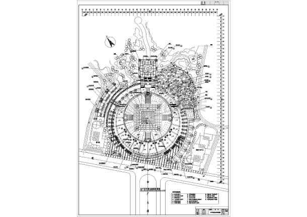 某地小型工程建筑规划cad图纸(共2张)-图1