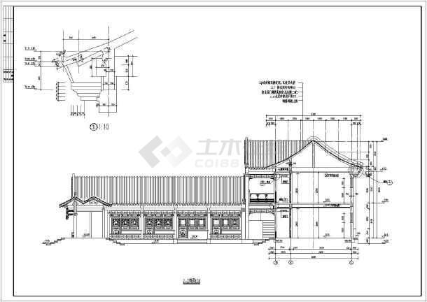 中国古建四合院建筑设计CAD施工图-图3