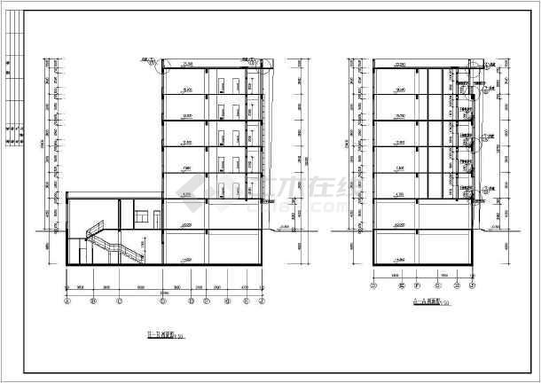 某地区大型商务楼建筑框剪结构图(标注详细)-图2