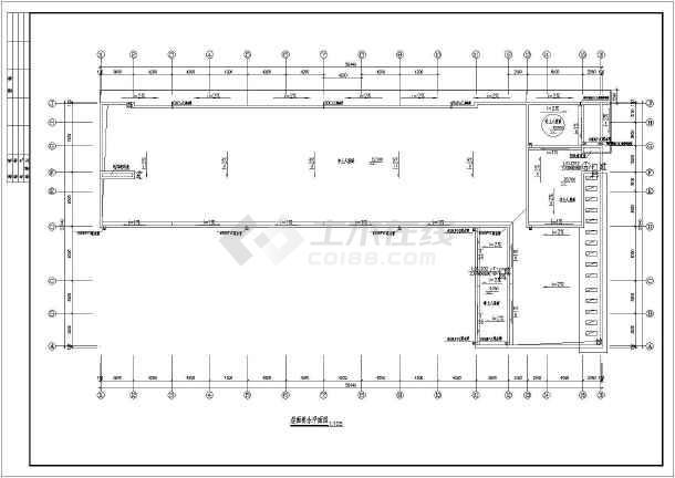 某地区大型商务楼建筑框剪结构图(标注详细)-图3