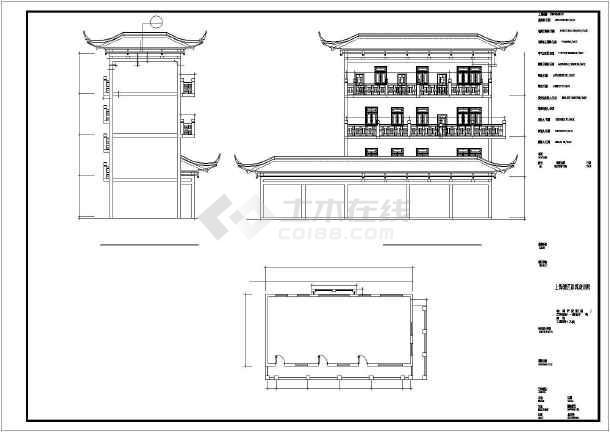 某地茶城内部装修CAD设计施工图-图1