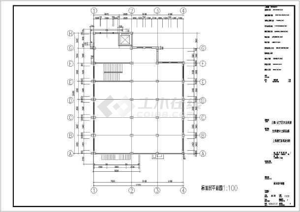 某地茶城内部装修CAD设计施工图-图3