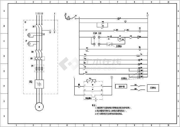 abb软启动接线,控制原理图(全套)