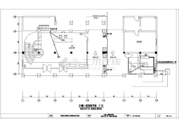 某政府办公室弱电电路布线施工图纸