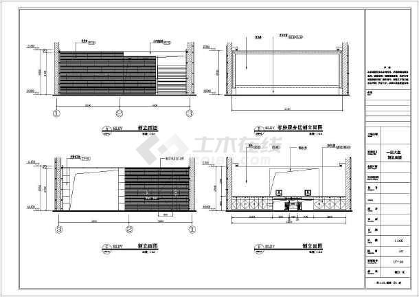 酒店大堂宴会厅设计方案全套cad平面图
