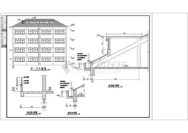 某详图教学楼中学v详图平面CAD全套mac天正cad2008图片