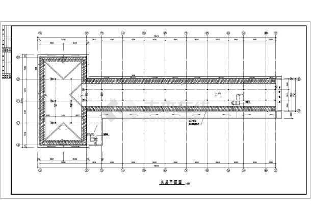 某中学教学楼尺寸v中学全套CAD详图cad出来红色打印平面的不图片