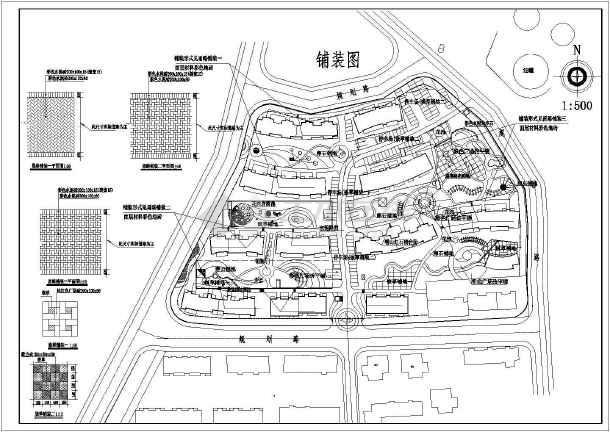 简单实用的某小区平面建筑规划图纸-图1