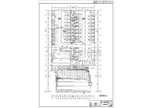 某地区大型汽车展厅电气施工平面设计图