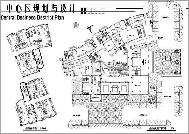简单实用的中心建筑规划图纸(共7张)-图1