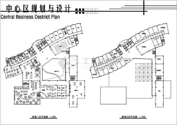 简单实用的中心建筑规划图纸(共7张)-图2