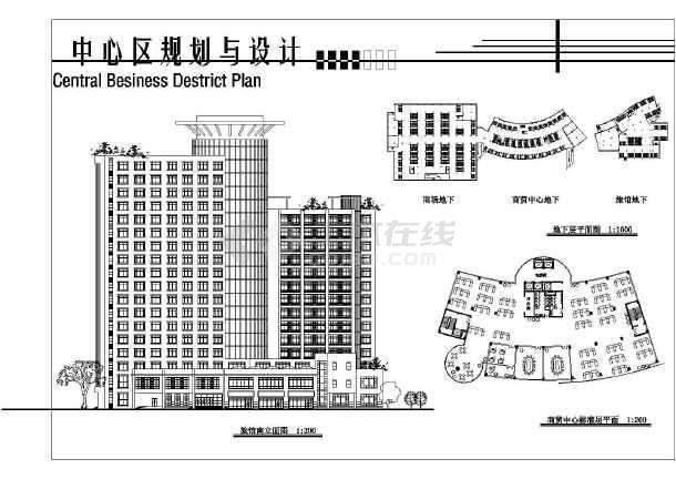简单实用的中心建筑规划图纸(共7张)-图3