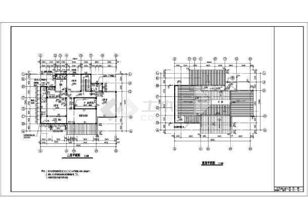 533平米地上两层地下一层仿古别墅建筑设计图(含设计说明)-图1