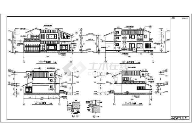 533平米地上两层地下一层仿古别墅建筑设计图(含设计说明)-图2
