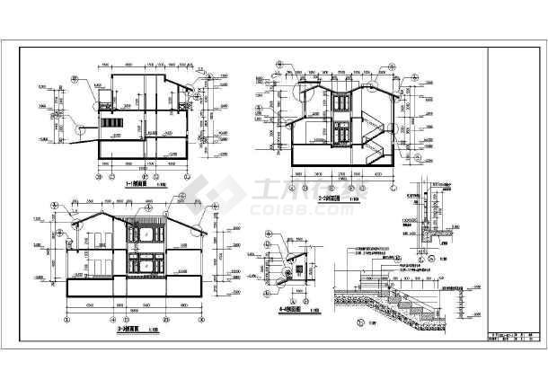 533平米地上两层地下一层仿古别墅建筑设计图(含设计说明)-图3