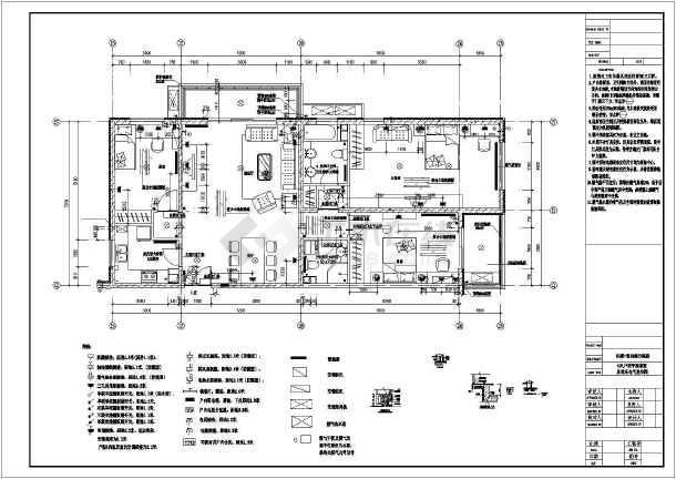 两居室图纸住宅楼室内装修cad详细高层v图纸平面a2尺寸图纸图片