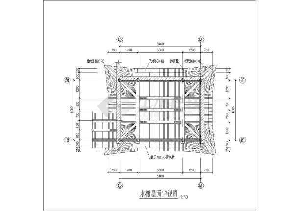 某地区仿古建筑设计方案四CAD图纸-图1