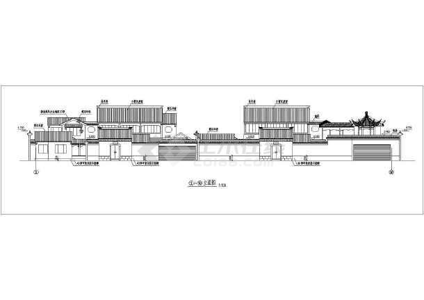 某地区仿古建筑设计方案四CAD图纸-图3