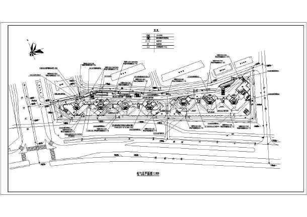 某地大型深圳湾花园全套建筑规划cad图纸-图1