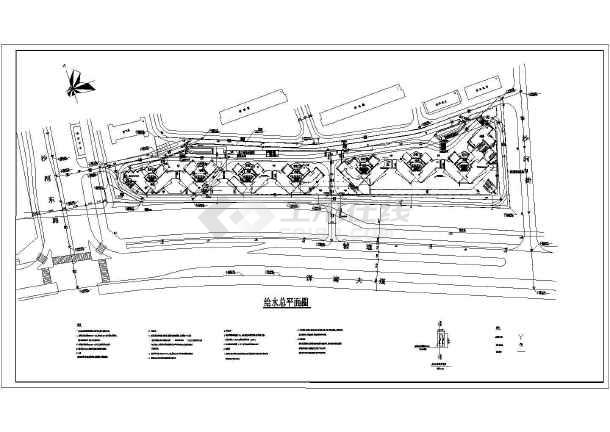 某地大型深圳湾花园全套建筑规划cad图纸-图2