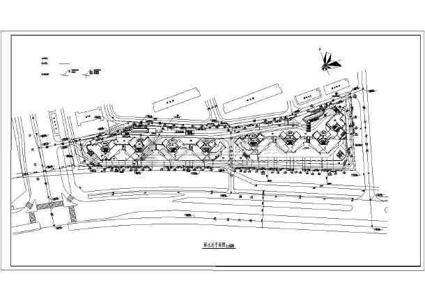 某地大型深圳湾花园全套建筑规划cad图纸-图3