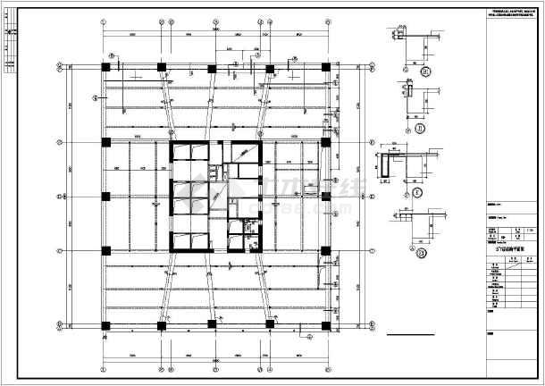 超高层办公楼框架核心筒结构设计图纸