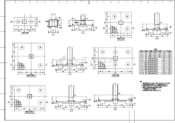 某地区大型电控楼框剪结构图(标注详细)-图1