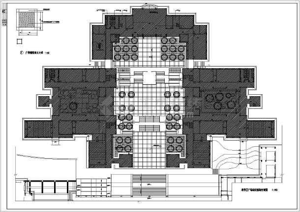 某学校教学楼广场环境建筑设计图纸-图1