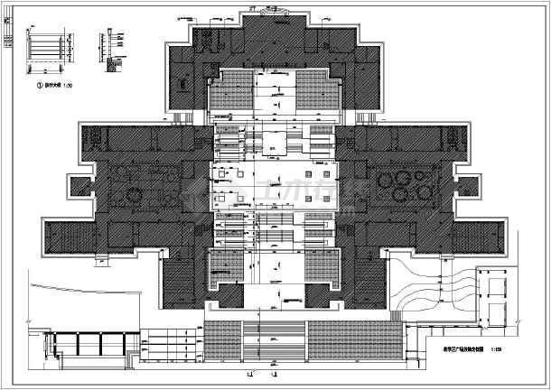 某学校教学楼广场环境建筑设计图纸-图2