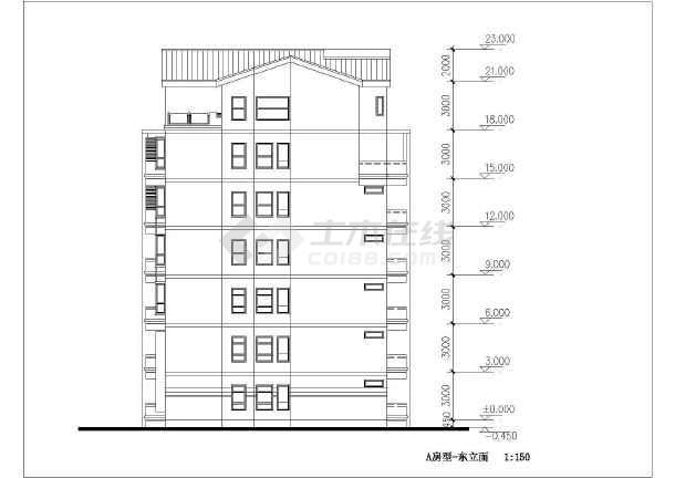 简单实用的住宅小区全套建筑施工图-图3