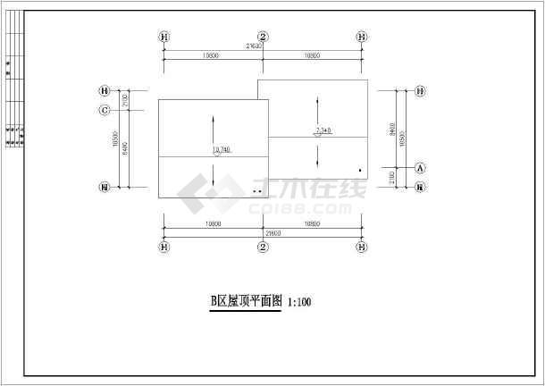 某地区仿古商业建筑设计方案CAD图-图1
