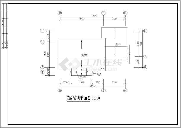 某地区仿古商业建筑设计方案CAD图-图2