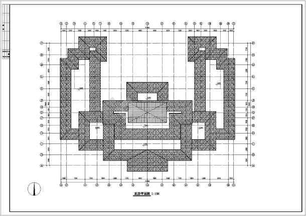 某地区仿古建筑设计方案设计施工图-图1