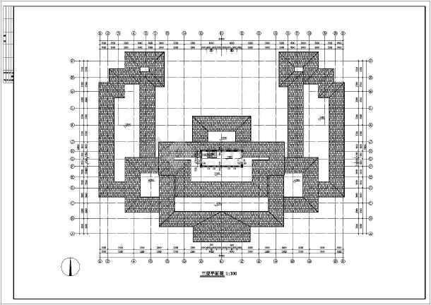 某地区仿古建筑设计方案设计施工图-图2