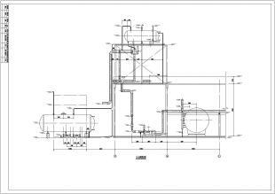 大型燃气导热油炉详细施工设计图纸内容发票绘制图纸图片