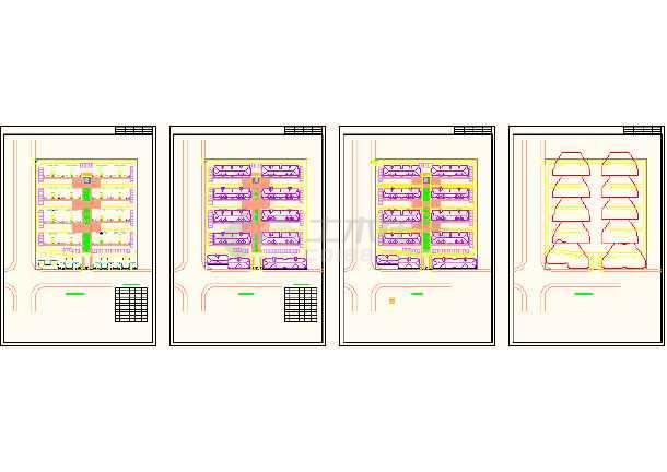简单实用的住宅小区建筑规划cad图纸-图1