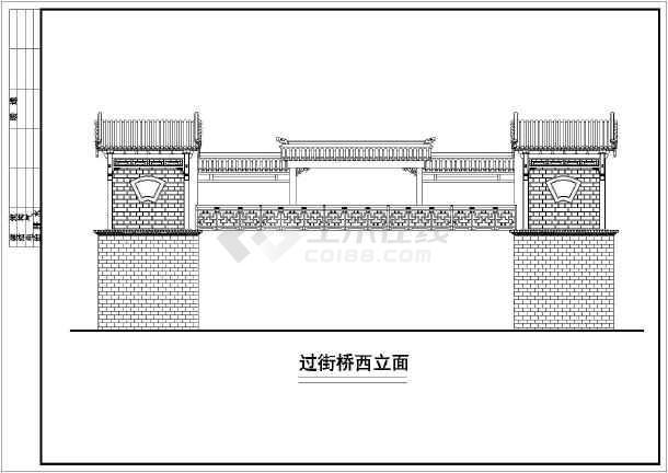 某地区精品古建筑设计方案二CAD图-图1