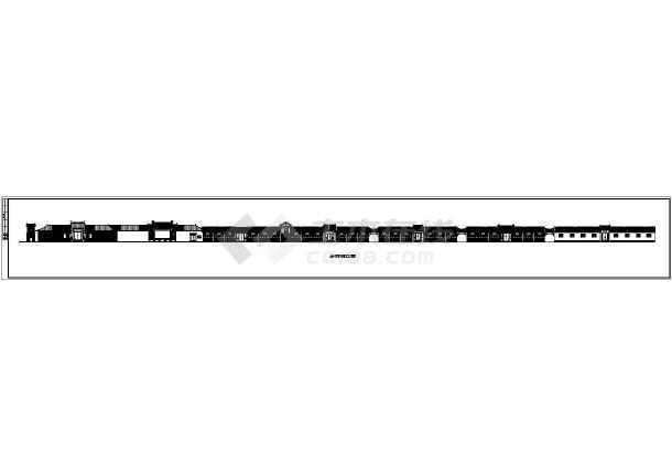 某地区精品古建筑设计方案二CAD图-图2