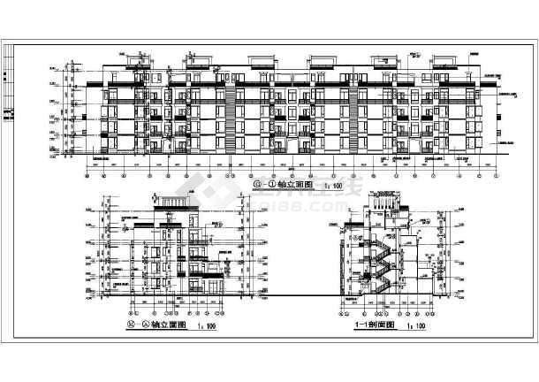 高层住宅建筑框架结构详细施工设计图纸-图1