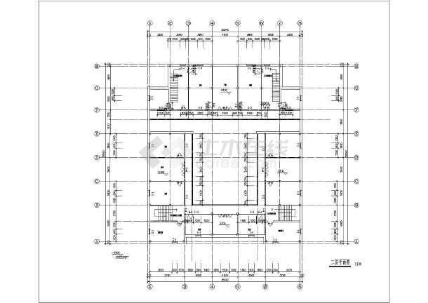 某地区仿古建筑设计方案施工CAD图-图1