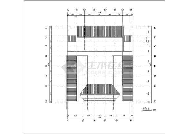 某地区仿古建筑设计方案施工CAD图-图2