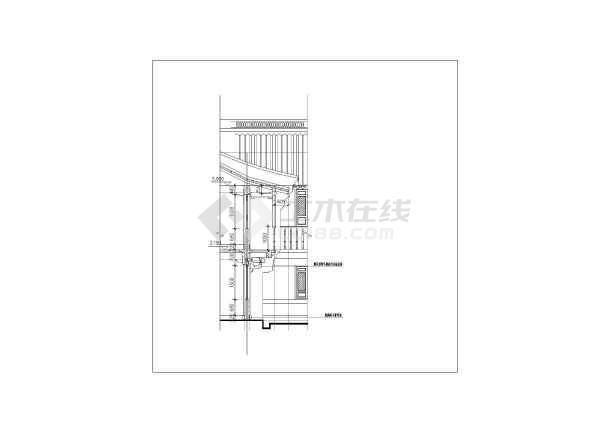 某地区仿古建筑设计方案施工CAD图-图3