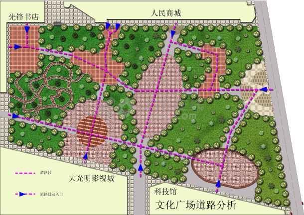 比较实用的文化广场平面建筑设计图-图1