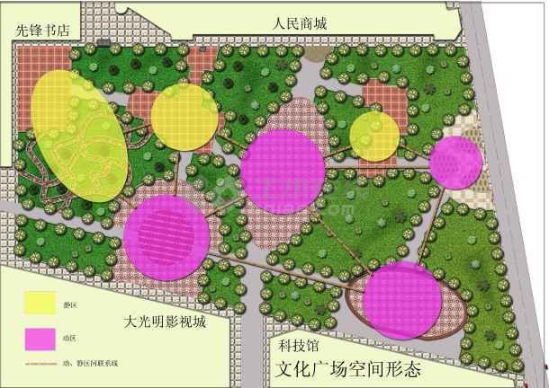 比较实用的文化广场平面建筑设计图-图2