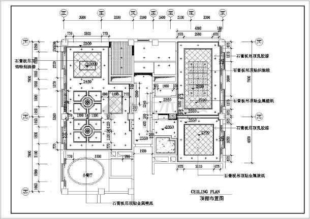 一套比较详细精美的总统套房平面图纸-图2