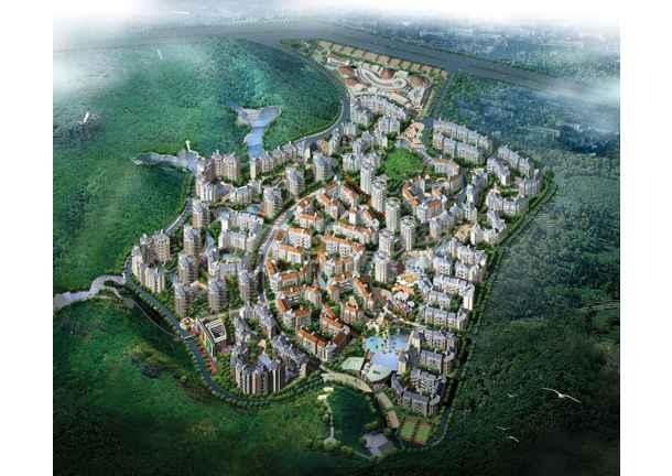 比较受欢迎的某地小区鸟瞰建筑规划图-图3