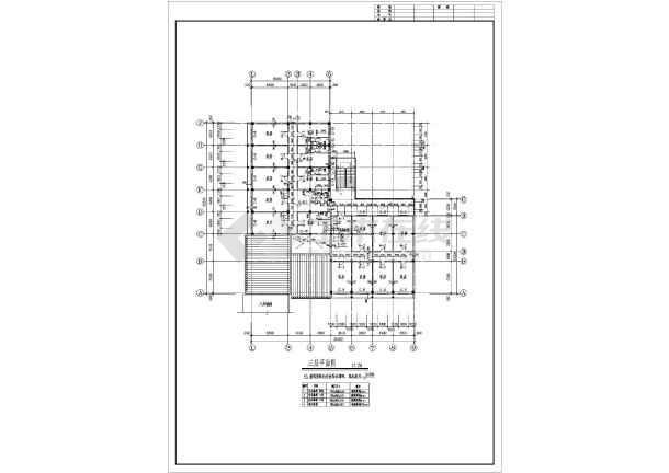 某地区仿古清式公建建筑设计方案图-图3